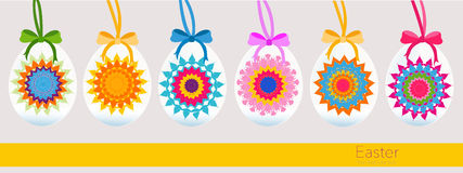 Hanging kaleidoscope easter egg greeting card Stock Image