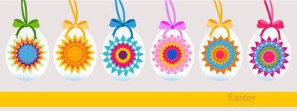 Hanging kaleidoscope easter egg greeting card Stock Image