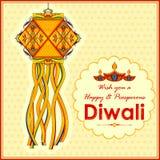 Hanging kandil lamp and diya for Diwali decoration Royalty Free Stock Images