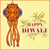 Hanging kandil lamp and diya for Diwali decoration Royalty Free Stock Image