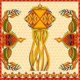 Hanging kandil lamp and diya for Diwali decoration Stock Image