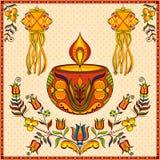 Hanging kandil lamp and diya for Diwali decoration Stock Images