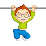 Hanging Kid. Vector illustration of kid hanging against white background Stock Images