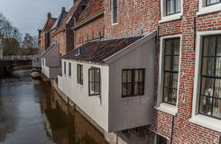 Hanging kitchens in the old center of Appingedam Stock Images