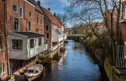 Hanging kitchens in the old center of Appingedam Royalty Free Stock Images