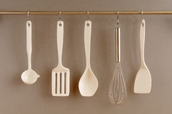 Hanging kitchien implements Royalty Free Stock Images