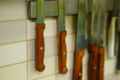 Hanging knives Royalty Free Stock Photo