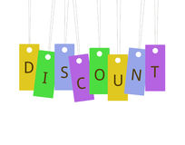 Hanging Labels Discount Royalty Free Stock Photography