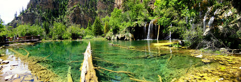 Hanging lake, Glenwood Canyon, Colorado Stock Image