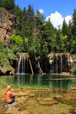 Hanging lake, Glenwood Canyon, Colorado Stock Photography