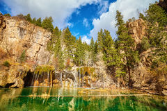 Hanging Lake, Glenwood Canyon, Colorado, USA. Wide angle picture of Hanging Lake in Glenwood Canyon, Colorado, USA royalty free stock photos