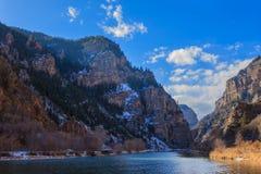 Hanging Lake Trail. Amazing Hanging Lake hiking trail near Glenwood Springs, Colorado Royalty Free Stock Photography