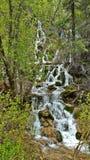Hanging Lake. Water fall half way through the hike Royalty Free Stock Photos