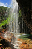 Hanging lake waterfall, Glenwood Canyon, Colorado Royalty Free Stock Image