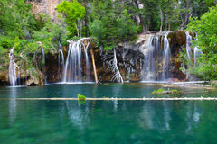 Hanging Lake Waterfall in Colorado Royalty Free Stock Images