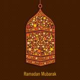 Hanging lamp for Muslims holy month Ramadan Kareem celebration. Royalty Free Stock Photos