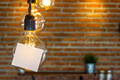 Hanging lamp Stock Image