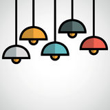 Hanging lamp. Stock Photos