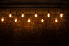 Hanging lamp on the wall. Royalty Free Stock Photography