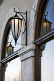 Hanging Lamps. Lamps on the outside of a building Stock Images