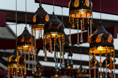 Hanging lamps Stock Images