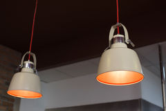 Hanging lamps interior for Restaurant Royalty Free Stock Photography