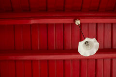 Hanging lantern and light bulb Royalty Free Stock Photos