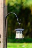 Hanging Lantern on Wooden Post Stock Photos