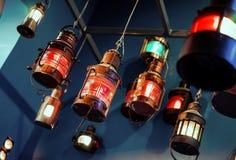 Hanging lanterns Stock Images