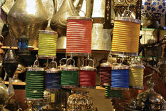 Hanging lanterns in Grand Bazaar Royalty Free Stock Photography