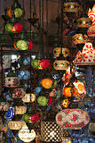 Hanging lanterns , Grand Bazaar, Istanbul, Turkey Royalty Free Stock Images