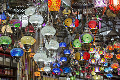 Hanging lanterns , Grand Bazaar, Istanbul, Turkey Stock Photos