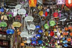 Hanging lanterns , Grand Bazaar, Istanbul, Turkey Stock Photos