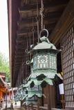 Hanging lanterns at Kasuga Shrine in Nara, Japan Royalty Free Stock Image