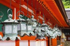 Hanging lanterns at Kasuga Shrine in Nara, Japan Stock Image