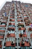 Hanging laundry on Shanghai high rise building China Royalty Free Stock Photos