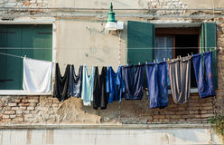 Hanging Laundry Stock Images