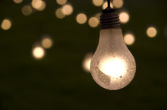 Hanging light bulb Royalty Free Stock Images