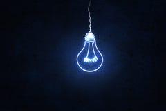 Hanging light bulb Stock Image