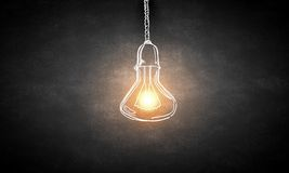 Hanging light bulb Stock Images