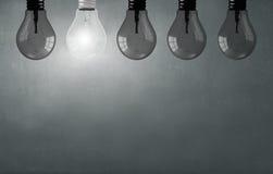 Hanging light bulb Royalty Free Stock Image