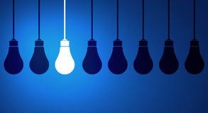 Hanging light bulb Stock Photo