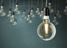 Free Hanging Light Bulbs Stock Photos - 79857593