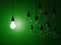 Hanging light bulbs Royalty Free Stock Image