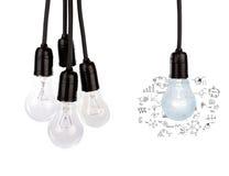 Hanging light bulbs Royalty Free Stock Image