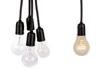 Hanging light bulbs Royalty Free Stock Photography