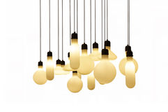 Hanging lights isolated on white background Royalty Free Stock Photography