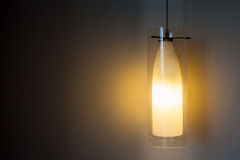 Hanging light whit wall Stock Photos