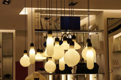 Hanging lights. In different shapes Royalty Free Stock Image