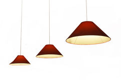 Hanging lights isolated on white Royalty Free Stock Photo